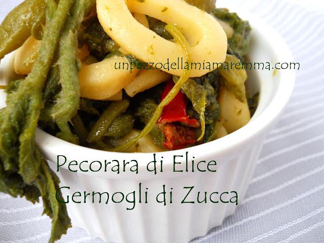 Pecorara Di Elice Ai Germogli Di Zucchina