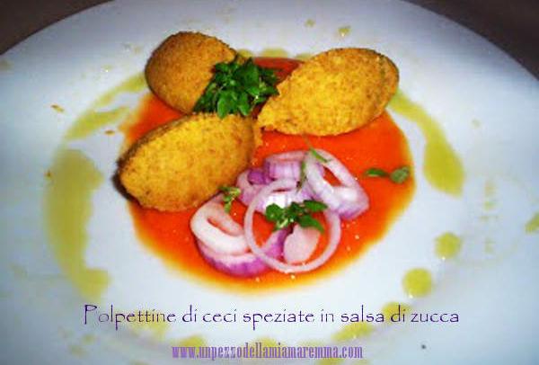 Polpettine Di Ceci Speziate In Salsa Di Zucca