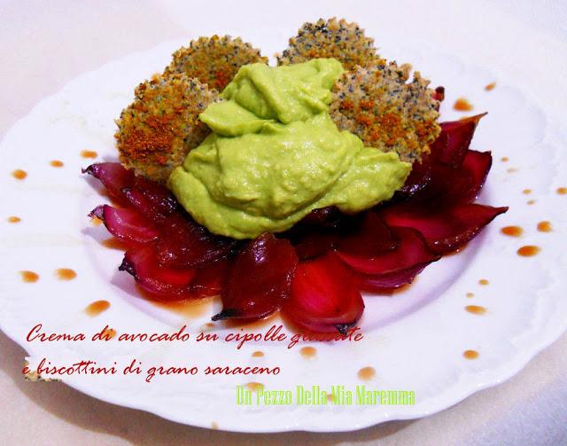 Crema Di Avocado Su Cipolle Glassate