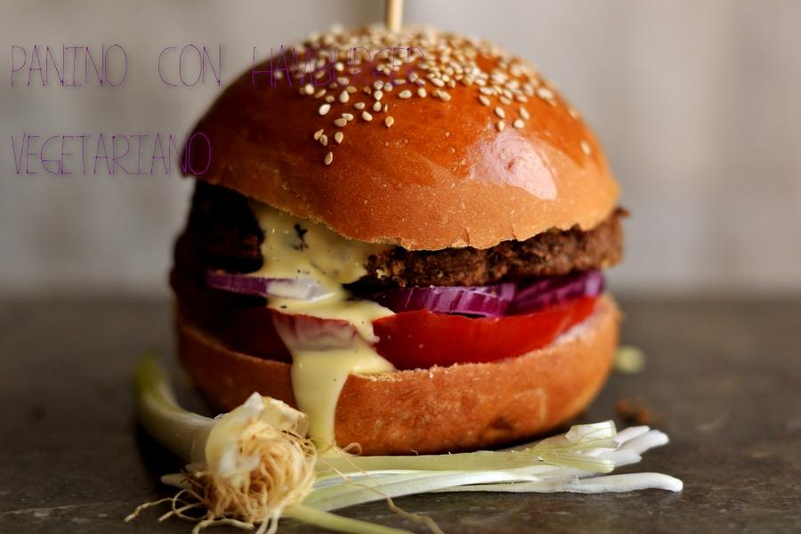 Panino Con Hamburger Vegetariano