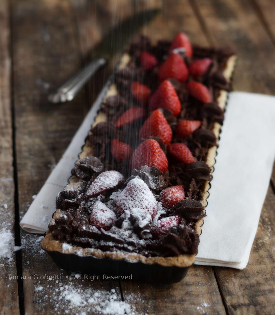 tarte cioccolato e fragole
