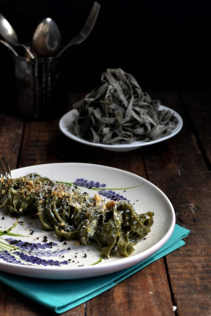 tagliatelle con farina di spinaci