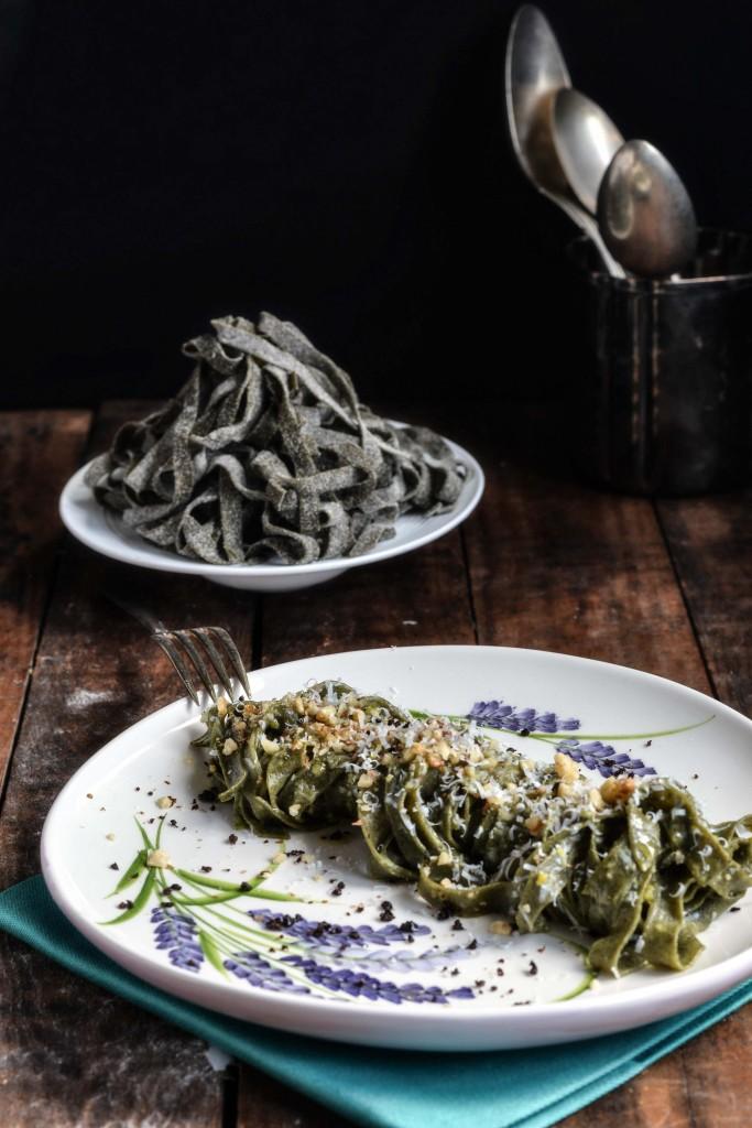 tagliatelle con farina di spinaci V3