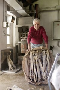 Umberto Zoratto,last dried stockfish beater - Codroipo