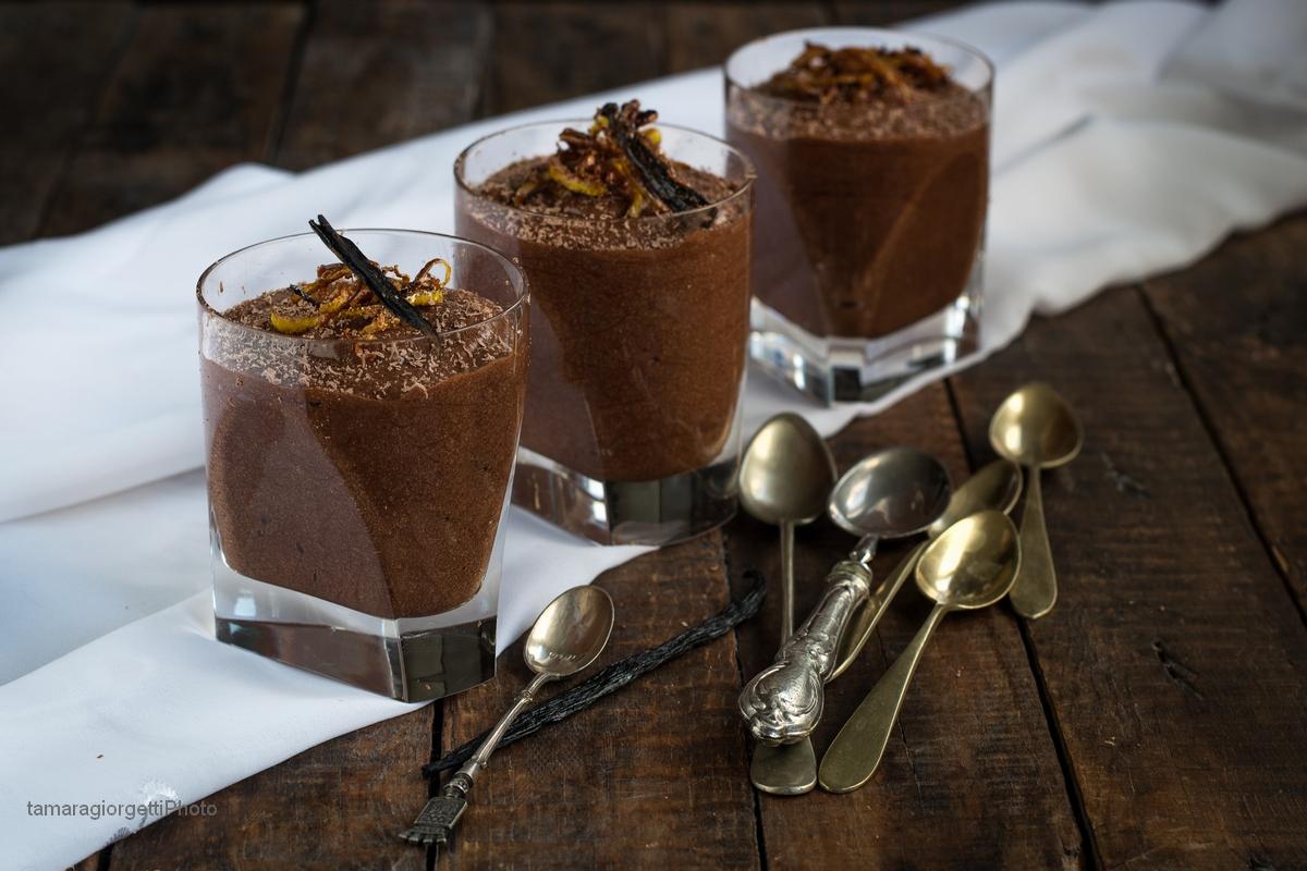 Mousse Au Chocolat Con Scorzette Caramellate