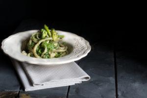 pici con germogli di zucchine