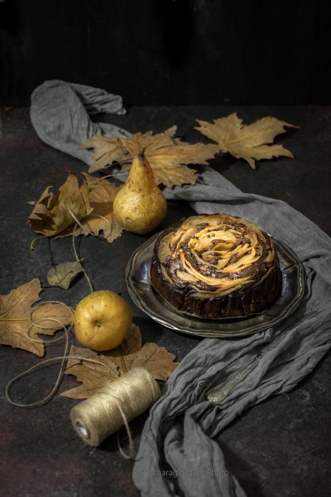 torta di pere e cacao