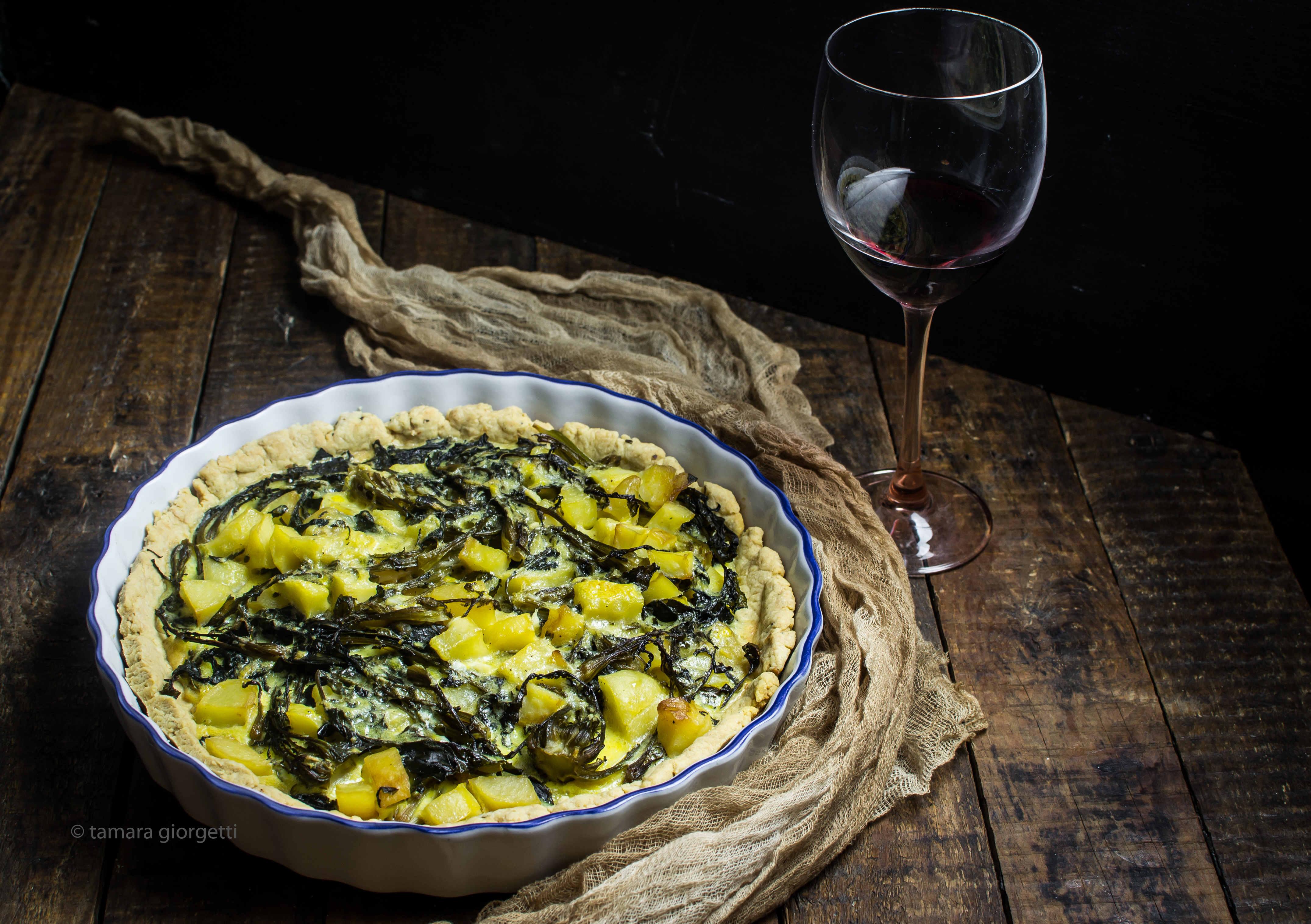 Torta Con Broccolo Fiolaro E Patate