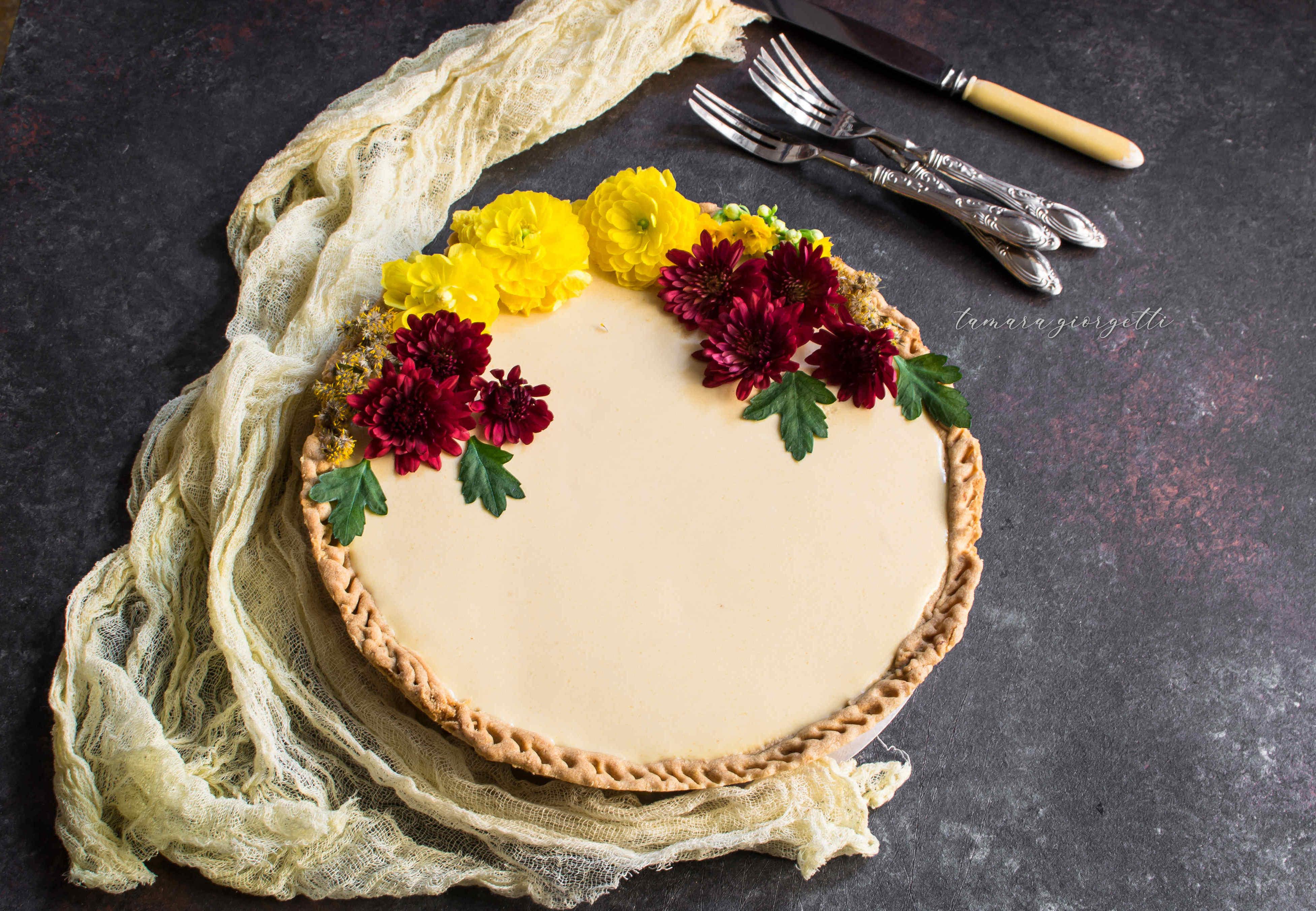 Crostata Con Panna Cotta Al Mango