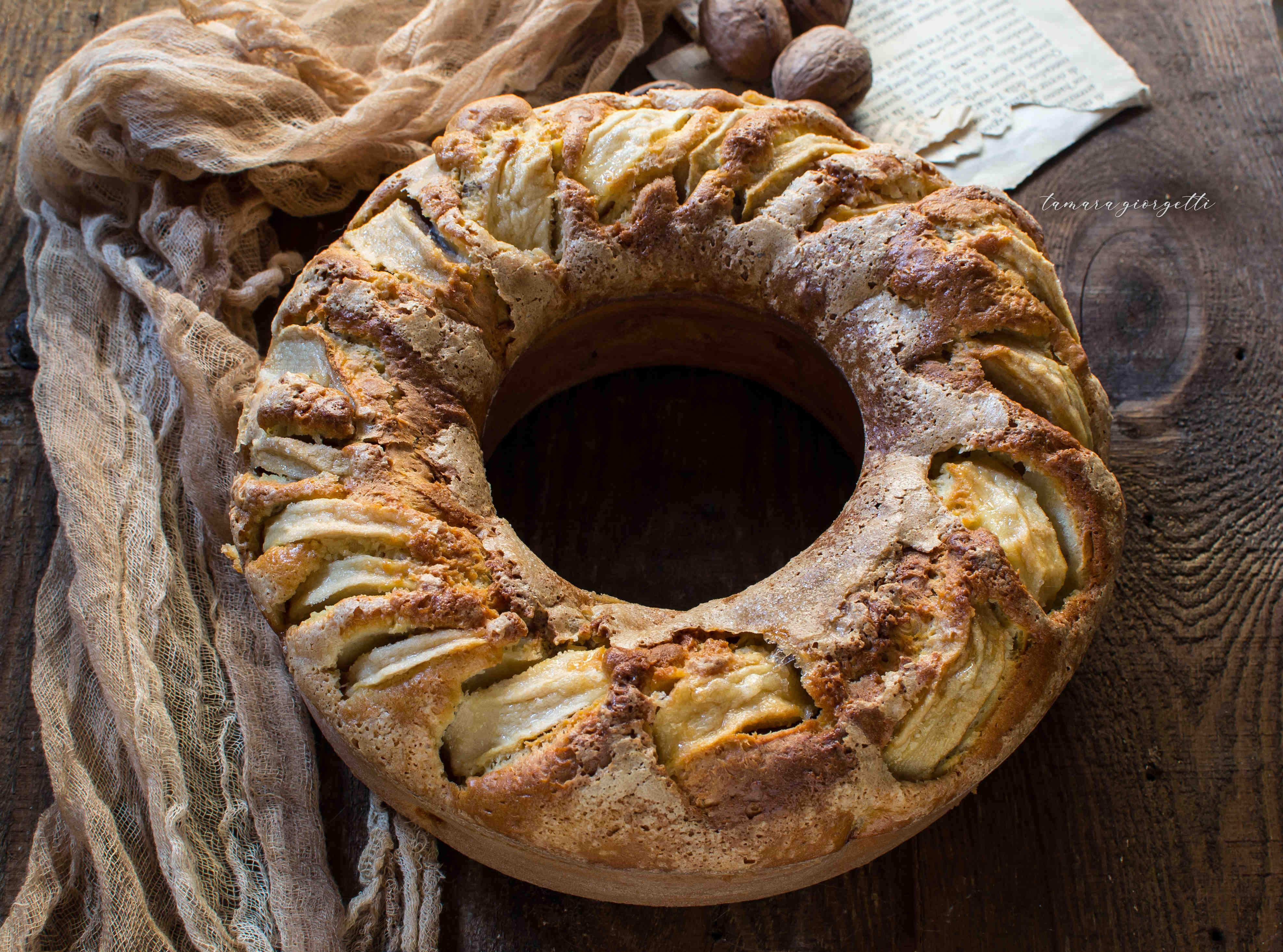 Torta Di Mele E Noci Senza Burro