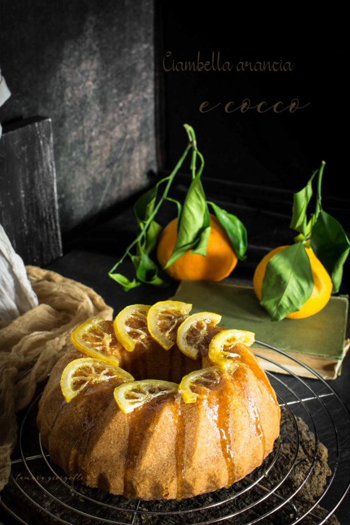 ciambella all'arancia e cocco