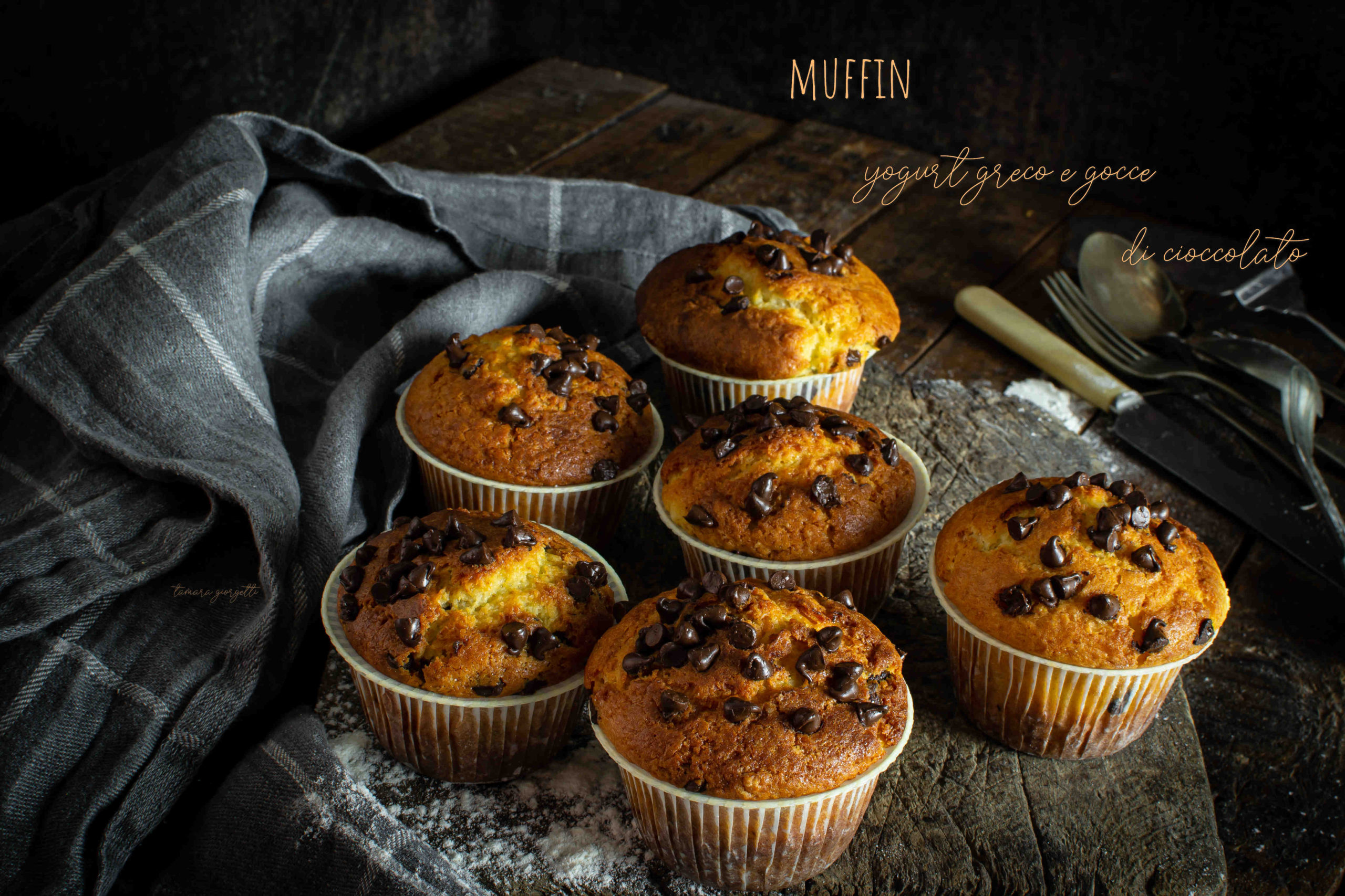 Muffin Yogurt Greco E Cioccolato