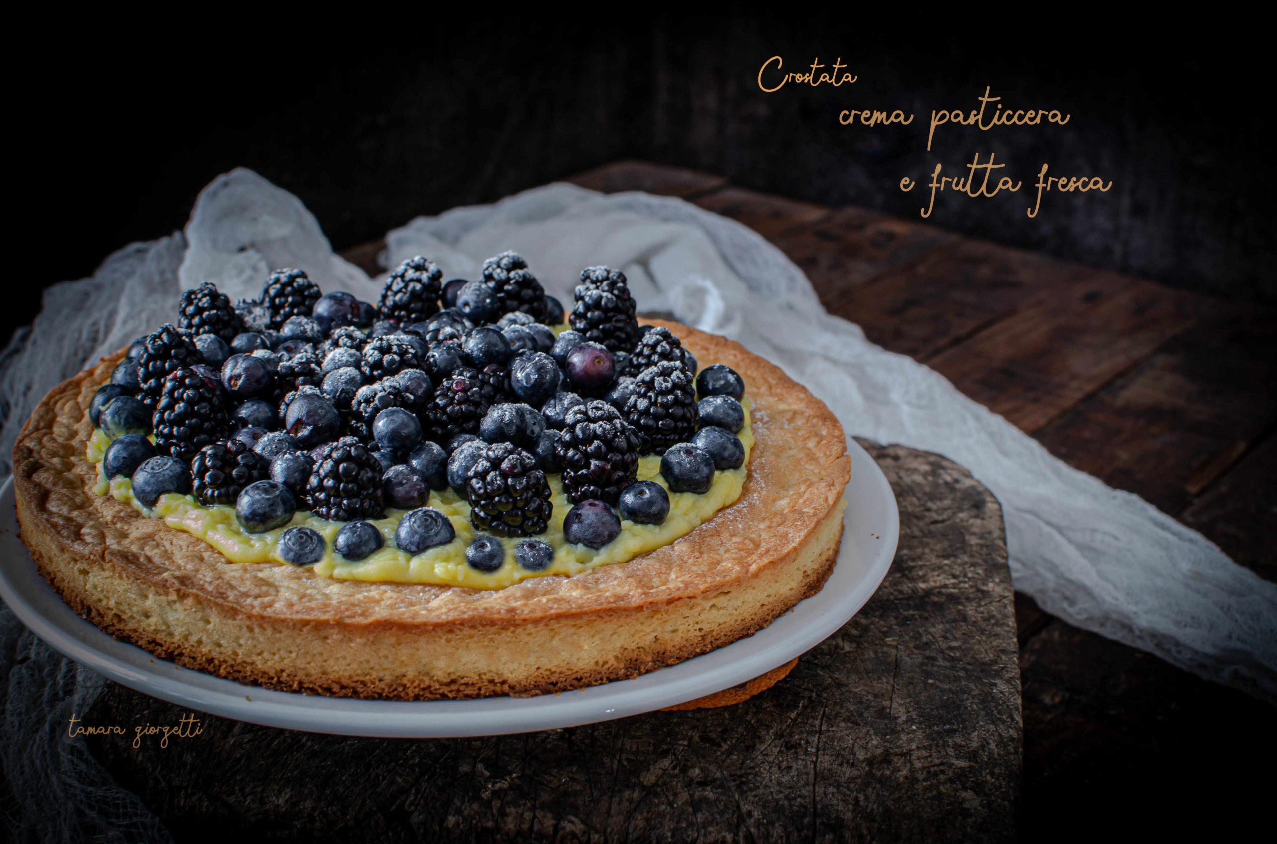 Crostata Alla Crema Pasticcera Mirtilli E More