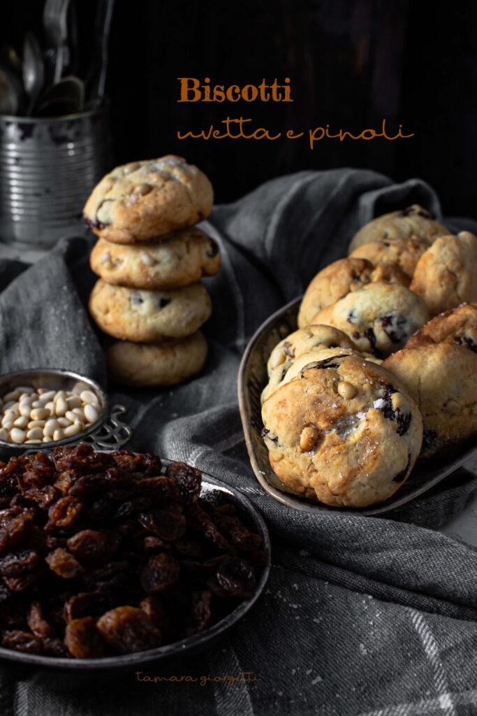 biscotti uvetta e pinoli