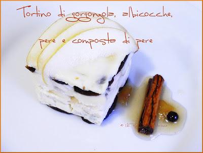 Tortino Di Gorgonzola, Con Albicocche E Composta Di Pere