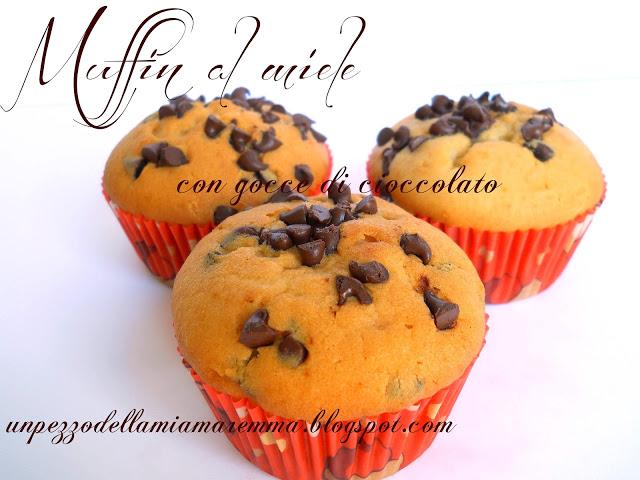 Muffin Al Miele Con Gocce Di Cioccolato