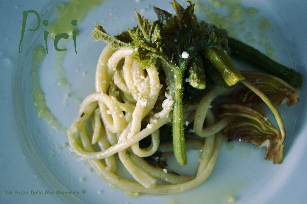 Pici Vegetariani, Zucchine Asparagi E Carciofi