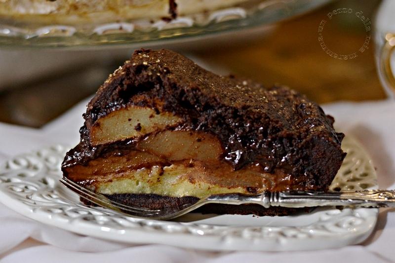 Chocolat Pear Almond Pie