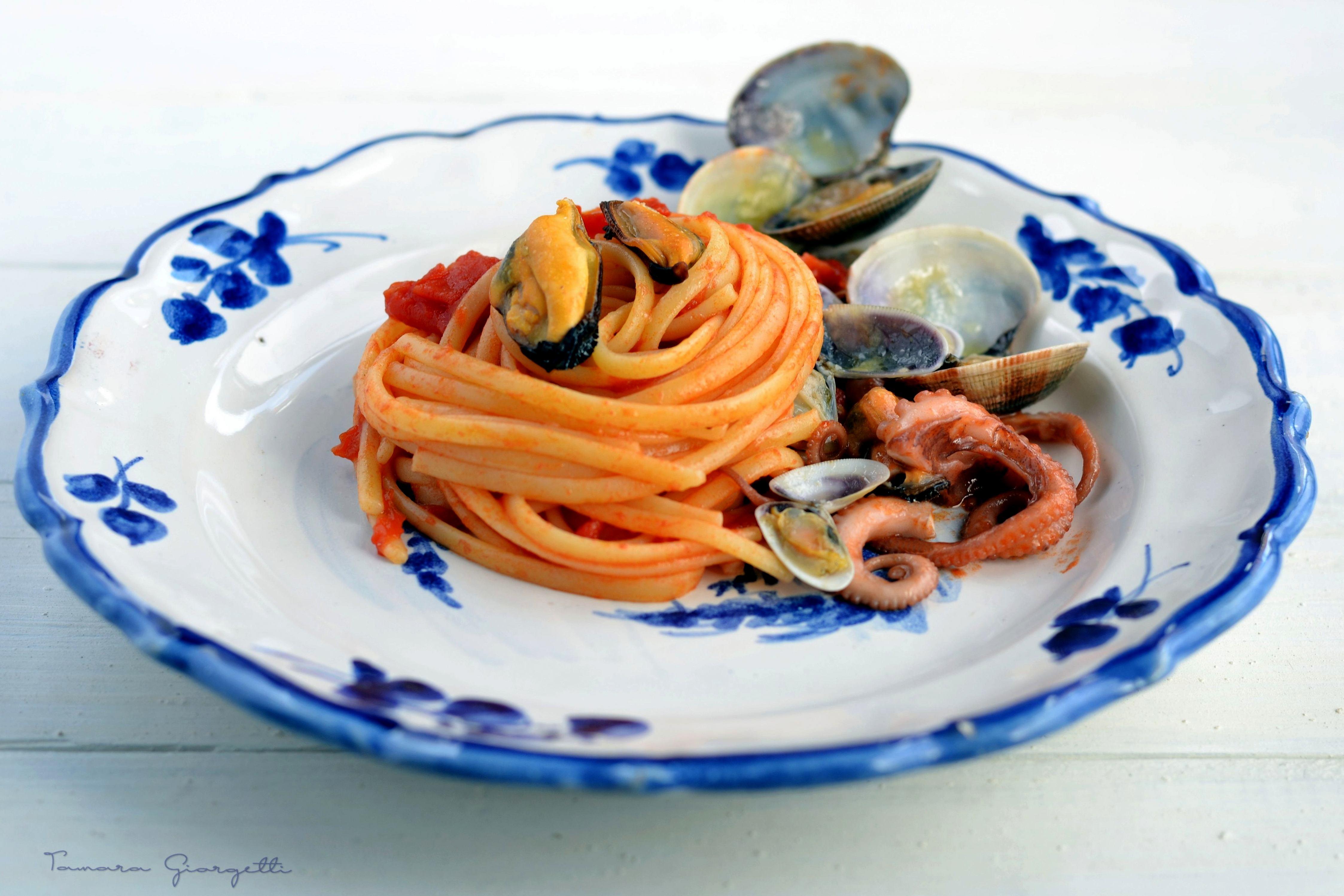Linguine Con Piccadilly E Frutti Di Mare