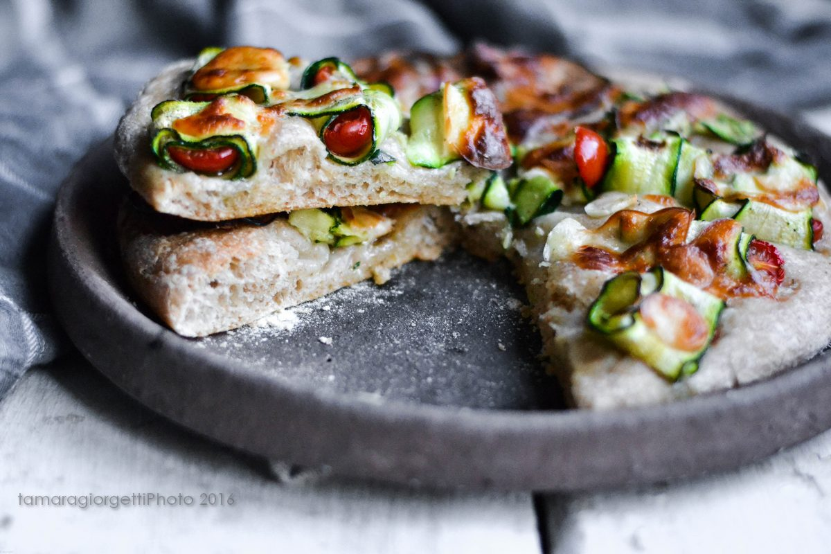 Pizza Con Zucchine Crude
