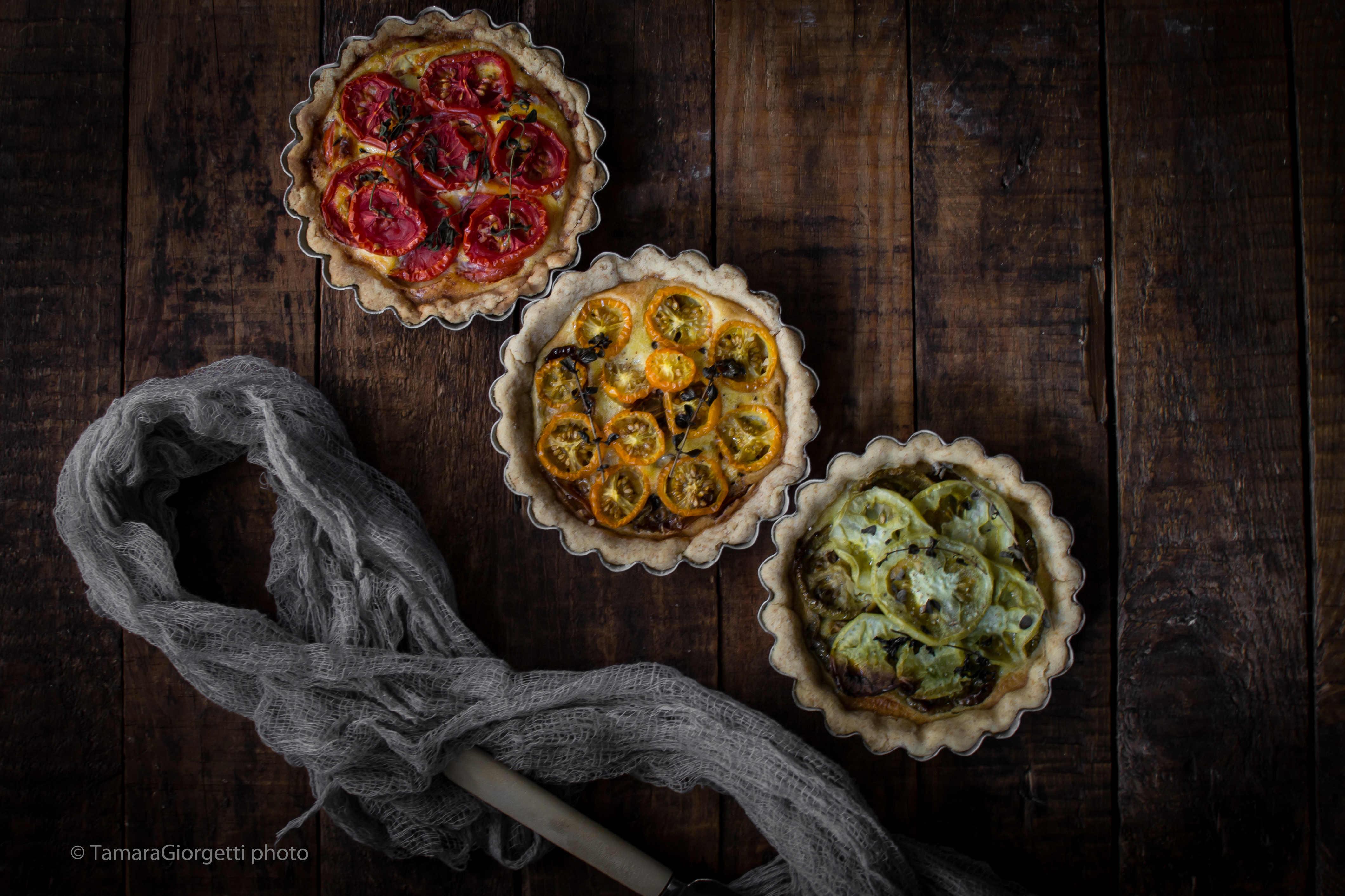 Mini Quiche Ai Tre Pomodori