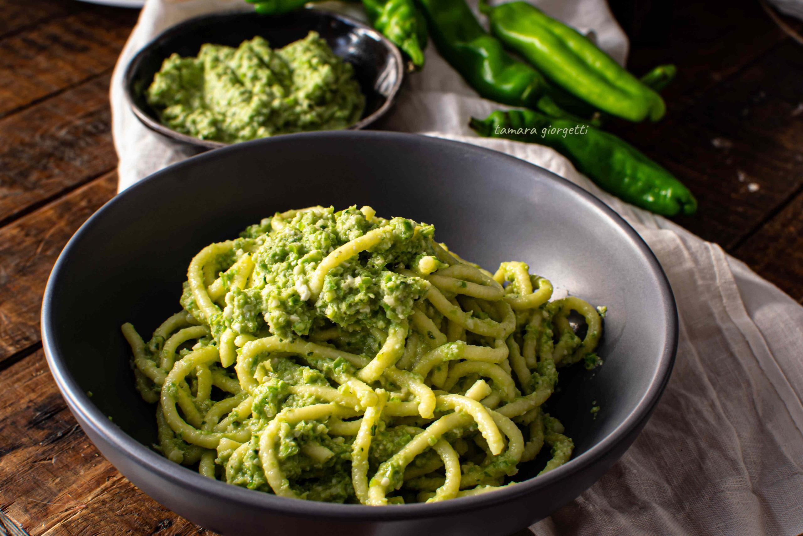 Spaghettoni Con Friggitelli Pestati